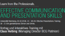 "Zum Artikel ""Seminar Effective Presentations am 2. Februar 2018"""